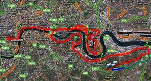 Londonmarathonroute